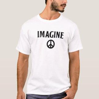 平和TシャツBeatlesをジョン・レノン想像して下さい Tシャツ