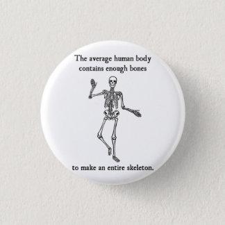 平均人体の骨組骨 3.2CM 丸型バッジ