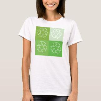 平方されるリサイクル Tシャツ