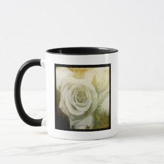 平方される白いバラ マグカップ