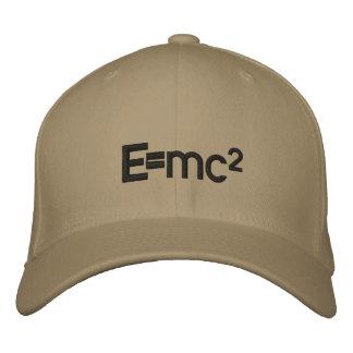 平方される   E=mc2アルベルト・アインシュタインの光速 刺繍入りキャップ