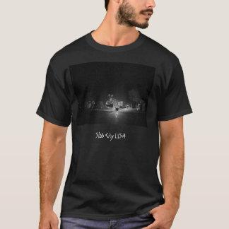 平板都市ハーレーかオートバイのTシャツ Tシャツ