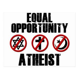 平等な機会の無神論者 ポストカード