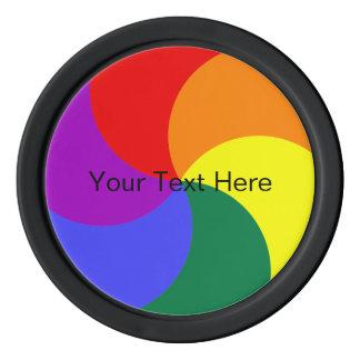 平等の虹色の車輪LGBT ポーカーチップ