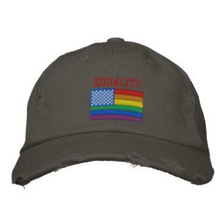 平等のBasebalの帽子 刺繍入りキャップ