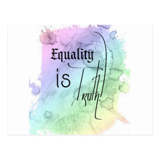 平等は真実です ポストカード