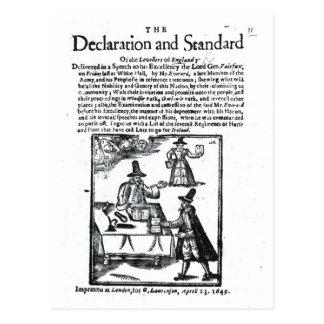 平等主義の宣言そして標準 ポストカード