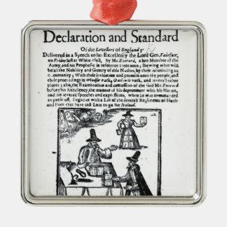 平等主義の宣言そして標準 メタルオーナメント