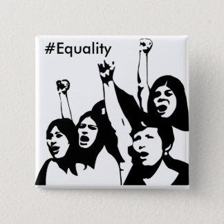 平等、女性の権利ボタン 5.1CM 正方形バッジ