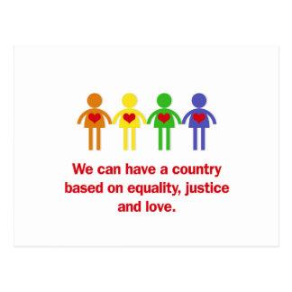 平等、正義および愛に基づく国 ポストカード