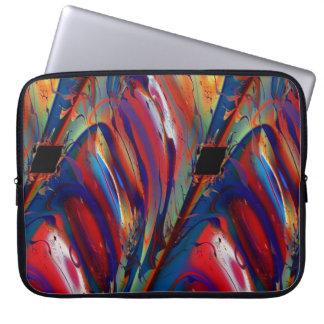 平行四辺形のカッコいいの抽象芸術のファインアートのフラクタル ラップトップスリーブ