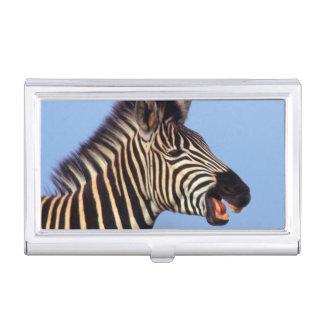 平野のシマウマ(Equusのクアッガ)の呼出し 名刺入れ