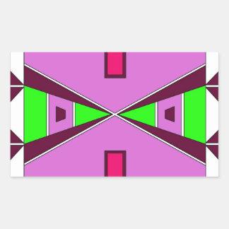 平野のネイティブアメリカンのビーズ手芸-紫色か緑 長方形シール