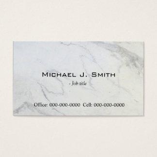 平野、シンプル、エレガントな大理石の名刺 名刺