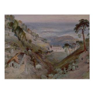平野、Landour教会、Mussoorie 1884年 ポストカード