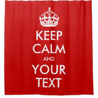 平静およびあなたの文字のカスタムな引用文を保って下さい シャワーカーテン