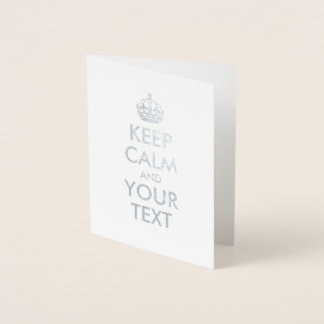 平静およびあなたの文字を保って下さい 箔カード