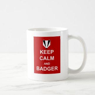 平静およびアナグマを飼って下さい コーヒーマグカップ