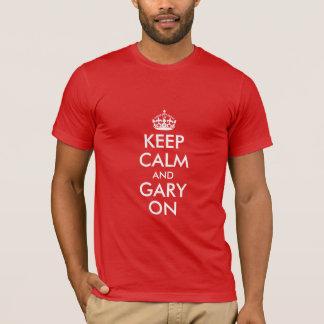 平静およびギャリーを保って下さい Tシャツ