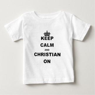 平静およびクリスチャンを保って下さい ベビーTシャツ