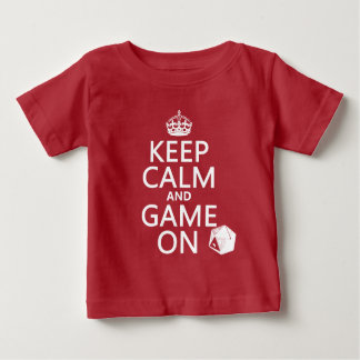 平静およびゲームのオンサイコロ-すべての色--を保って下さい ベビーTシャツ