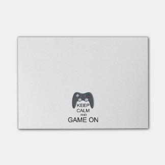 平静およびゲームを保って下さい ポストイット