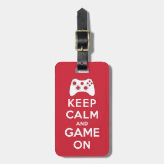 平静およびゲームを保って下さい ラゲッジタグ