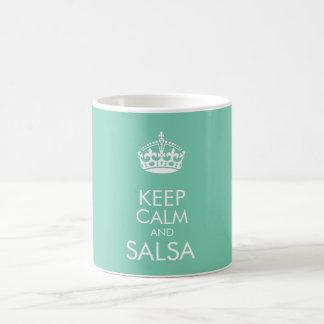 平静およびサルサを保存して下さい-背景色を変えて下さい コーヒーマグカップ