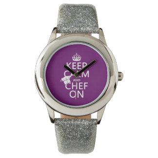 平静およびシェフを保って下さい 腕時計