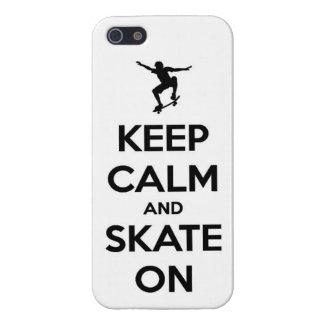 平静およびスケートスケートボードをする板通りtrを保って下さい iPhone 5 ケース