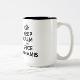 平静およびスパイスDunamisを保存して下さい ツートーンマグカップ
