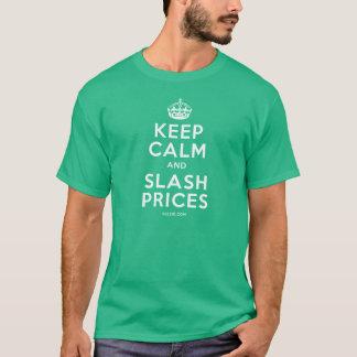 平静およびスラッシュの価格を保って下さい Tシャツ
