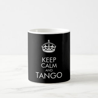 平静およびタンゴを保って下さい-背景色を変えて下さい コーヒーマグカップ