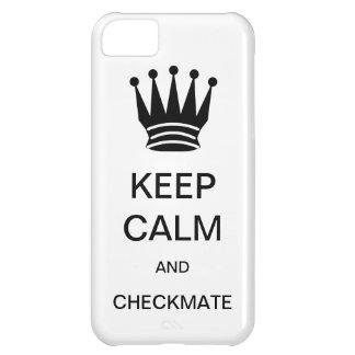 平静およびチェックメートの穹窖のiPhone 5の場合保って下さい iPhone5Cケース