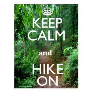 平静およびハイキングを保って下さい ポストカード