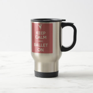 平静およびバレエを保って下さい トラベルマグ