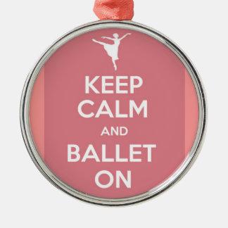 平静およびバレエを保って下さい メタルオーナメント