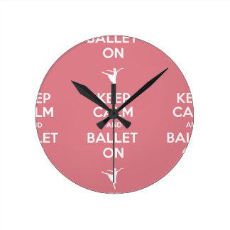 平静およびバレエを保って下さい ラウンド壁時計