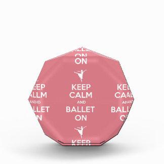 平静およびバレエを保って下さい 表彰盾