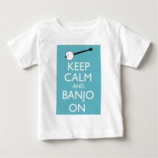 平静およびバンジョーを保って下さい! ベビーTシャツ
