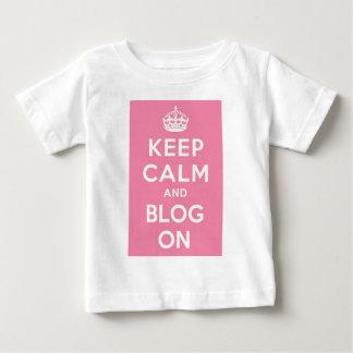 平静およびブログを保って下さい ベビーTシャツ