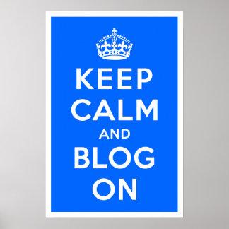 平静およびブログを保って下さい ポスター