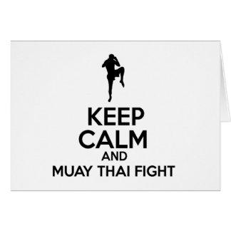 平静およびムエタイの戦いを保って下さい カード