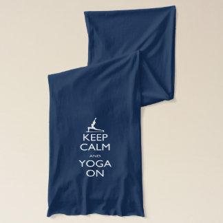 平静およびヨガを保って下さい スカーフ