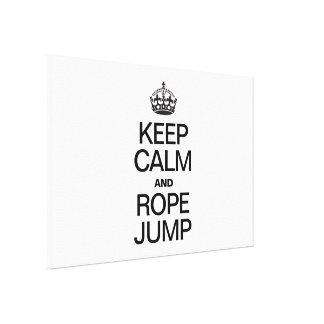 平静およびロープのジャンプを保って下さい キャンバスプリント