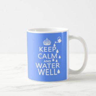 平静および井戸を保って下さい コーヒーマグカップ