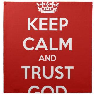 平静および信頼の神を保って下さい ナプキンクロス