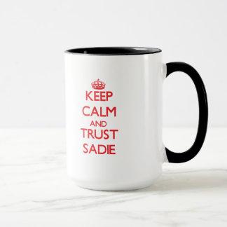平静および信頼Sadieを保って下さい マグカップ