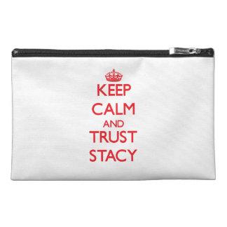 平静および信頼Stacyを保って下さい トラベルアクセサリーバッグ