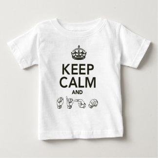 平静および印を保って下さい ベビーTシャツ